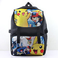 Pikachu & Ash Ketchum of Anime Pokeman Nylon Waterproof Laptop Backpack/Double-Shoulder Bag/School Bag