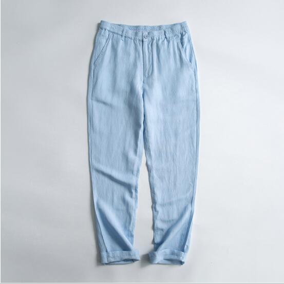2018 sommer dünne abschnitt casual große größe lose baumwolle hosen elastische taille männlichen