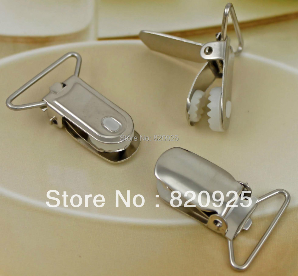 10 Pcs Round Duckbilled Clamp Buckle Pacifier Suspender Holder Clips Craft Metal