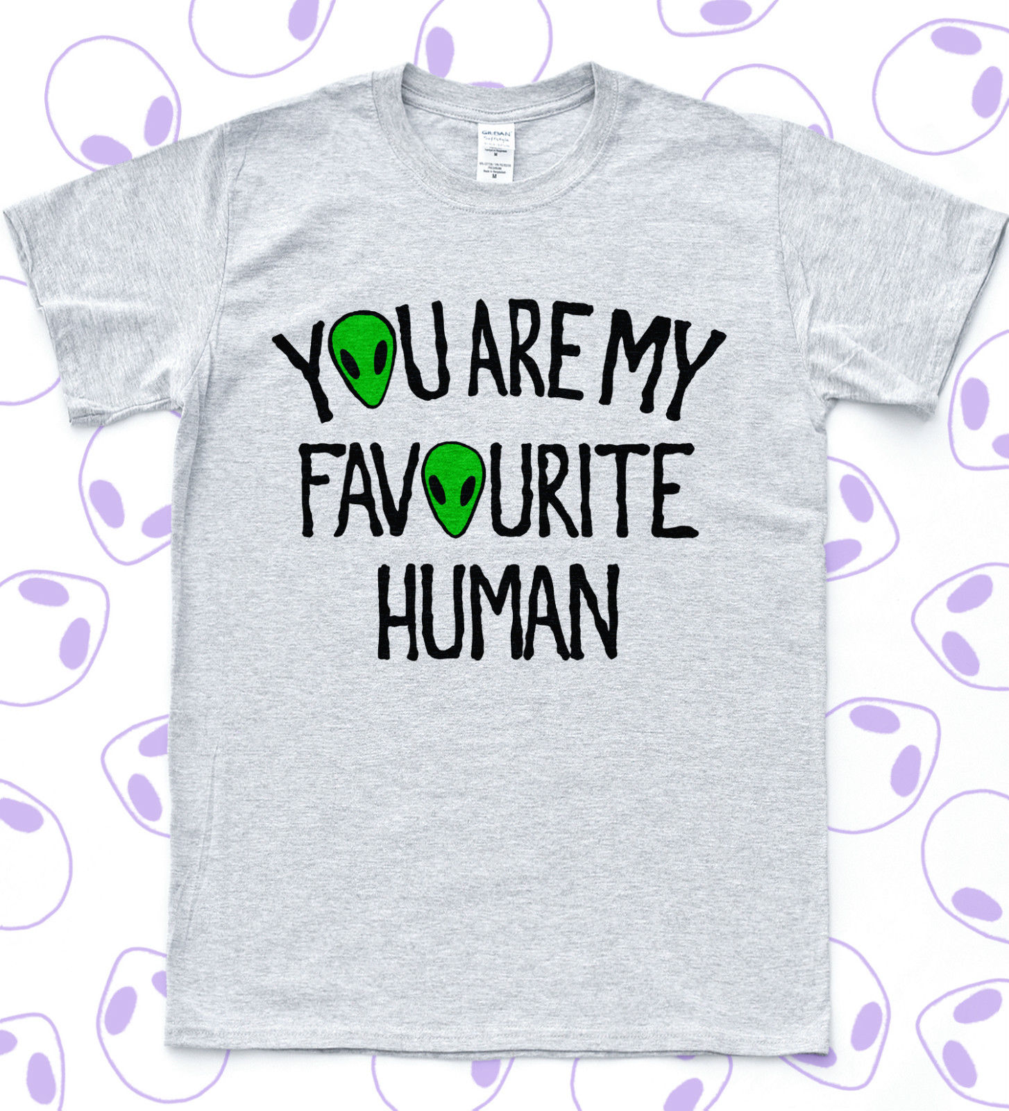Favourite Alien T-shirt ET Funny UFO Grunge Tee Skater Space Star Sk8 Cute Top