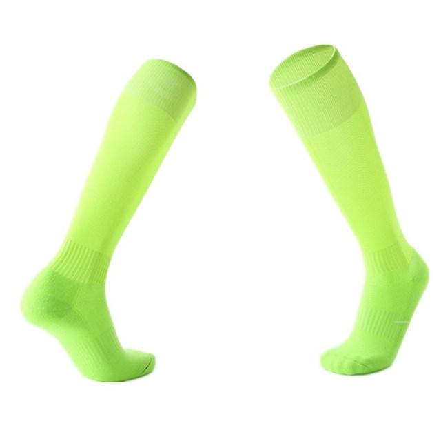 New Men Women Sports Soccer Socks Pure Color Professional Football Breathable Knee-High Running Training Long Stocking Sock