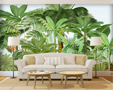 beibehang Customized papel de parede 3d wallpaper minimalist painted watercolor flamingo tropical leaves bedroom background