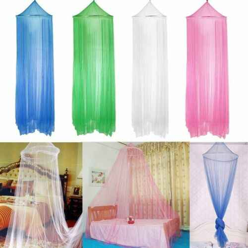 White Pink Blue Round Lace Curtain Dome Bed Circular Hung Solid Sweet Canopy Netting Princess Mosquito Net