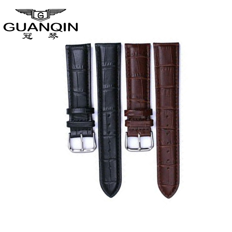 Genuine Watches cow leather bracelet high quality buckle Wrist Watch Band leather strap for men watch 19mm,20mm
