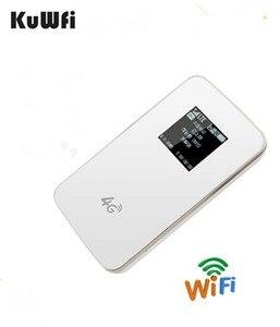 Image 3 - KuWfi débloqué 4G routeur sans fil poche LTE WiFi Modem 4100 mAh batterie externe routeur de voyage en plein air avec fente pour carte Sim