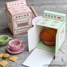 100 Uds Cajas de Regalo de horno Vintage Cupcake caja molde para pastel fiesta boda Favor