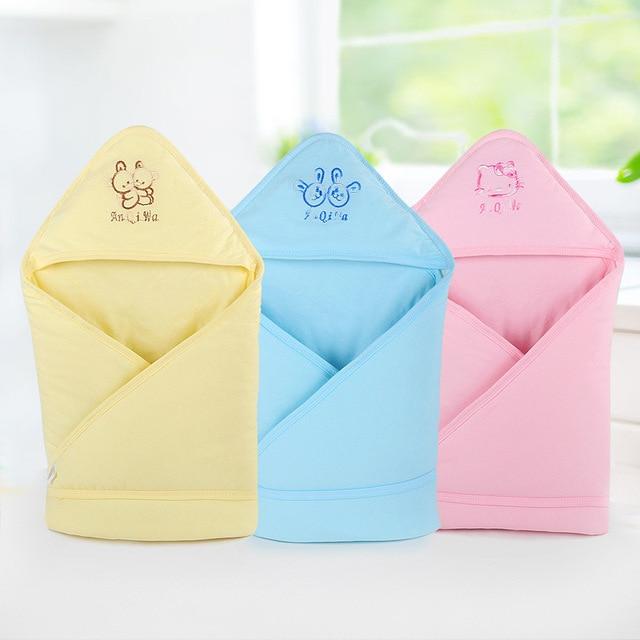 80x80 سنتيمتر النوم حقيبة الطفل الرضيع القطن المغلف الطفل بطانية النوم حقيبة ل الوليد التفاف sleepsack الكرتون الطفل بطانية