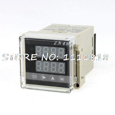 цена на 1-9999 Up Down Programmable 4 Digits Display Mini Counter Relay