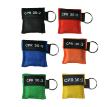 2Pcs CPR Resuscitator Mask Keychain 30:2 Disposable Emergency Rescue Skill Training/Teaching Face Shiled Health Care Tool