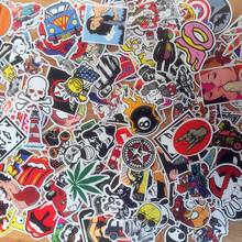Купить с кэшбэком 50Pcs/Lot Styling Pvc Waterproof Fashion personality Stickers For Laptop Motorcycle Skateboard Luggage Guitar Decal Toy Sticker