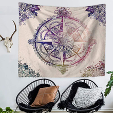 Tapestry Macrame Wall Hanging Hippie Boho Decor Wall Tapestry Mandala Compass Clock Wall Cloth Tapestries Carpet Throw Rugs Yoga