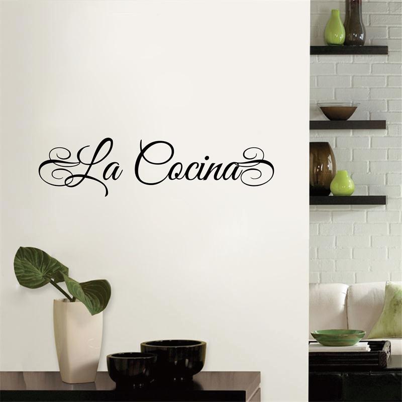 Livraison gratuite LA COCINA (Espagnol) ou LA CUCINA (Italien) Cuisine  imperméable En Vinyle Lettrage Sticker Autocollants, spa3002 dans Stickers  ...