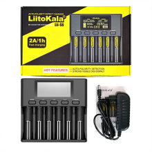 LiitoKala Lii-S6 Lii-PD4 Lii-500 Battery Charger 18650 6-Slot Car-Polarity Detect For 18650 26650 21700 32650 AA AAA Batteries(China)
