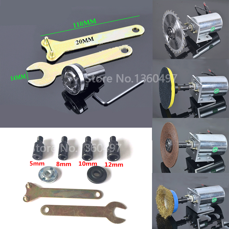 NEW M10-5/8/10/12mm drill Spindle Adapter Grinding Polishing Shaft Motor Bench Grinder Saw blade adapter Connecting rod sleeve new 50mm wall hole saw drill bit set 200mm connecting rod with wrench mayitr for concrete cement stone