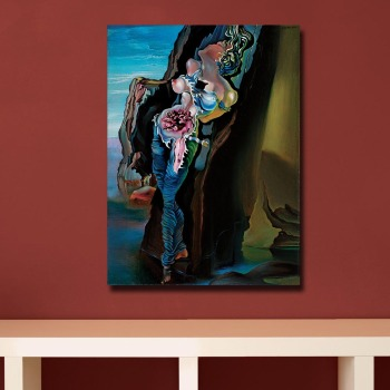 Wxkoil Salvador Dali Gravida (1931) Canvas Wall Pictures for Living Room Office Bedroom Modern Canvas Oil Painting Unframed 2