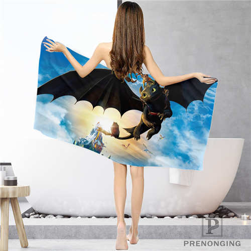 Active Components Pins & Badges Helpful Custom How-to-train-your Bathroom Washcloth Towels Face Towel/bath Towel Shower Towels Size 33x74cm/72x143cm#18-12-16-01-23