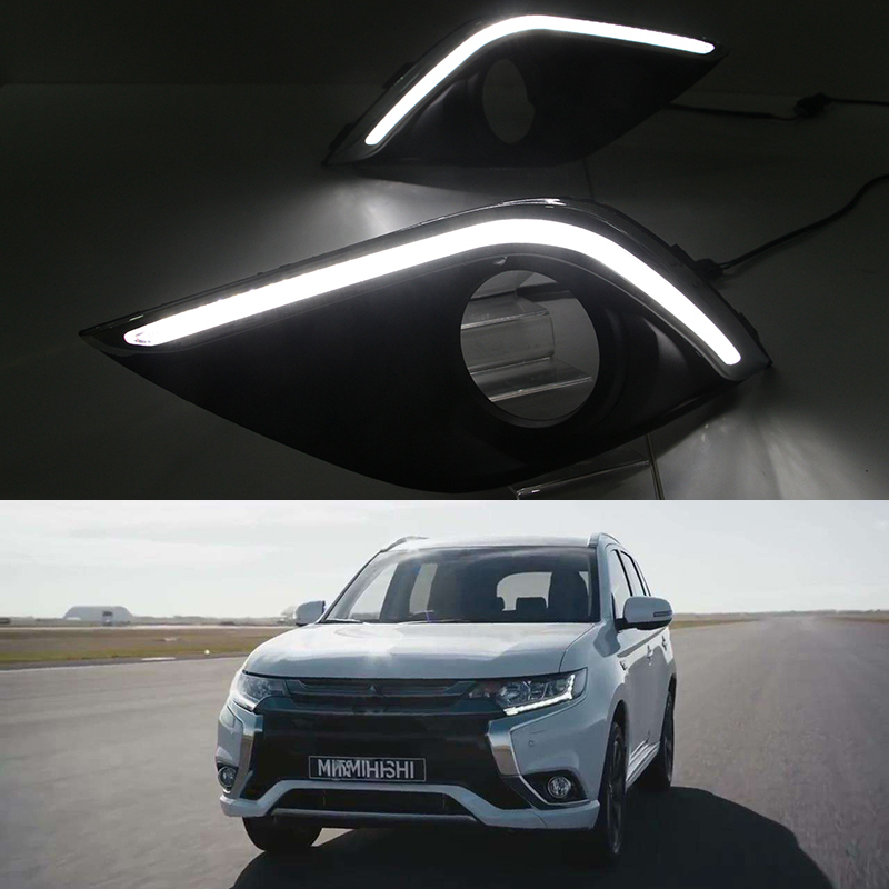 Mitsubishi Outlander Consumer Reviews: Car Flashing 2Pcs DRL For Mitsubishi Outlander 2016 2017