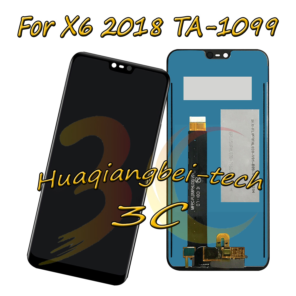 5.8 New Black For Nokia X6 2018 TA-1099 Full LCD DIsplay + Touch Screen Digitizer Assembly For Nokia X6 ( 2018 ) 100% Tested5.8 New Black For Nokia X6 2018 TA-1099 Full LCD DIsplay + Touch Screen Digitizer Assembly For Nokia X6 ( 2018 ) 100% Tested