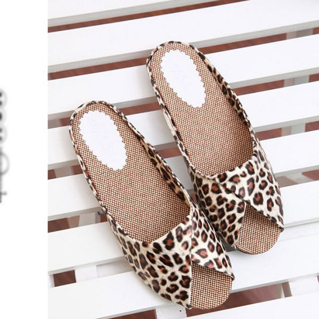 Platform Slippers Heel-Shoes Women Sandals Fish-Mouth Fashion Summer Leopard Print Mujer