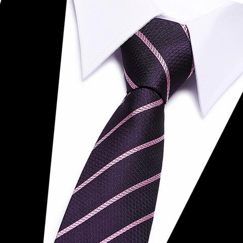 Classic 100% Silk Mens Ties New Design Neck Ties 8cm Plaid&Striped Ties for Men Formal Business Wedding Party Gravatas Lahore