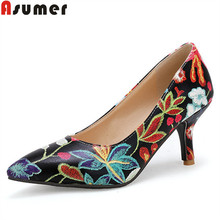 ASUMER Large size 33-45 fashion spring autumn new shoes woma