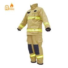 Международная самая высокая спецификация желтый противопожарное снаряжение Номекс одежда пожарного костюмы пожарных