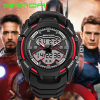 SANDA Outdoors Brand Watch Waterproof Calendar S Shock Men Military Army Sport Clock New G Style
