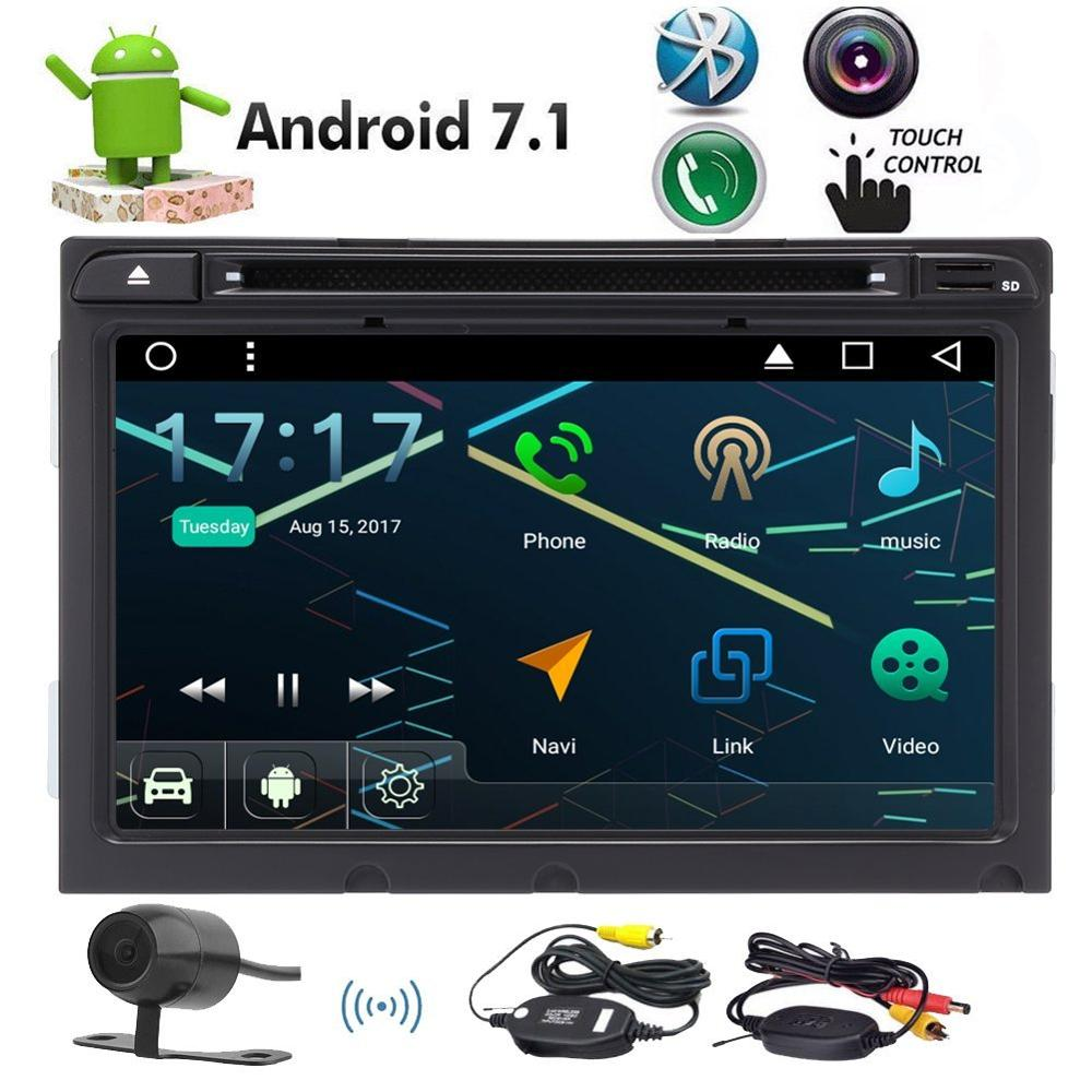 Wireless Camera+Car Stereo DVD Player Android 7.1 Nougat 4 Core 8'' for Hyundai Elantra 2016 GPS Navigation Bluetooth Autoradio