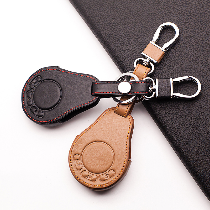 High-quality leather key case cover for BMW Mini Cooper Roadster S R55 R56 R57 R58 R59 Cooper Key Box 3 buttons remote control