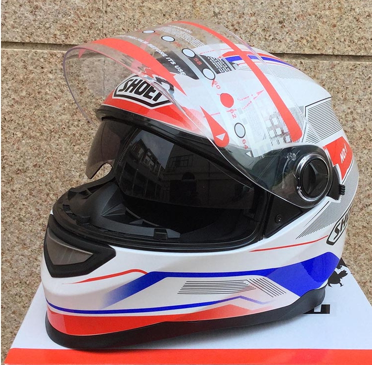 New Arrival Brand Shoei Capacete Double Sunshade System Motorcycle