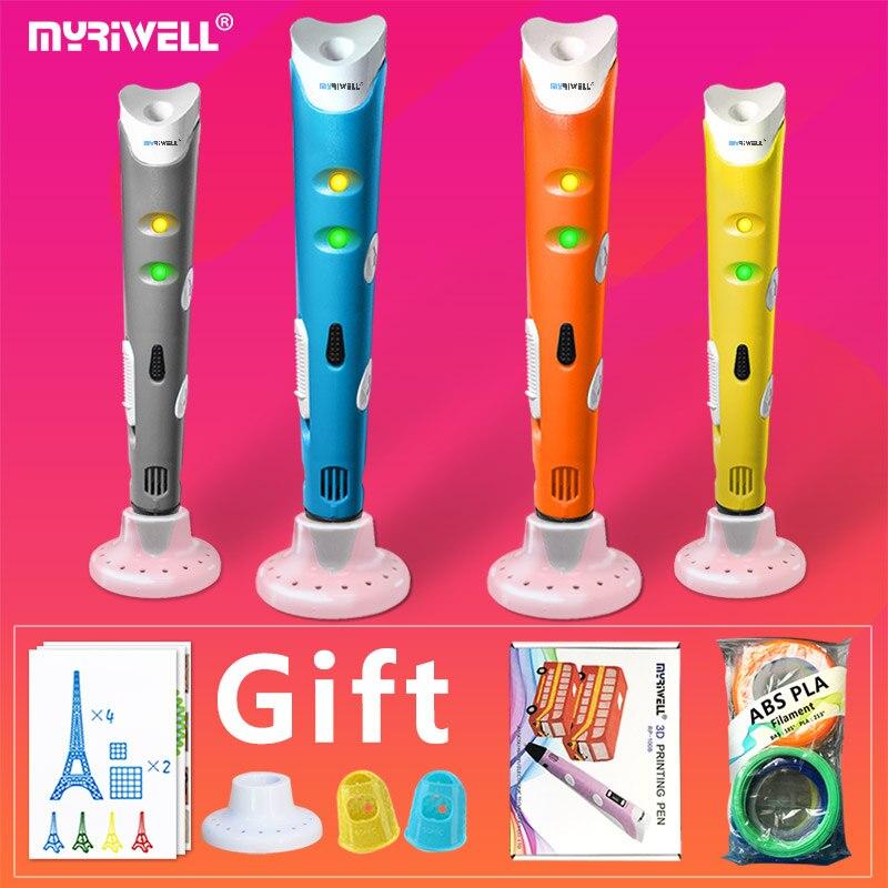 Myriwell 3d stylo 3d stylos, 1.75mm ABS/PLA Filament, cadeau de nouvel An, créatif 3d imprimante pen-3d stylo magique, Meilleur Cadeau pour Les Enfants, stylo 3 d
