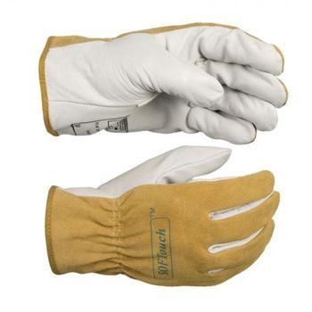 Argon arc schweißen handschuhe hirschleder kurze TIG MIG handschuhe hohe temperatur beständig rindsleder schweißer handschuh