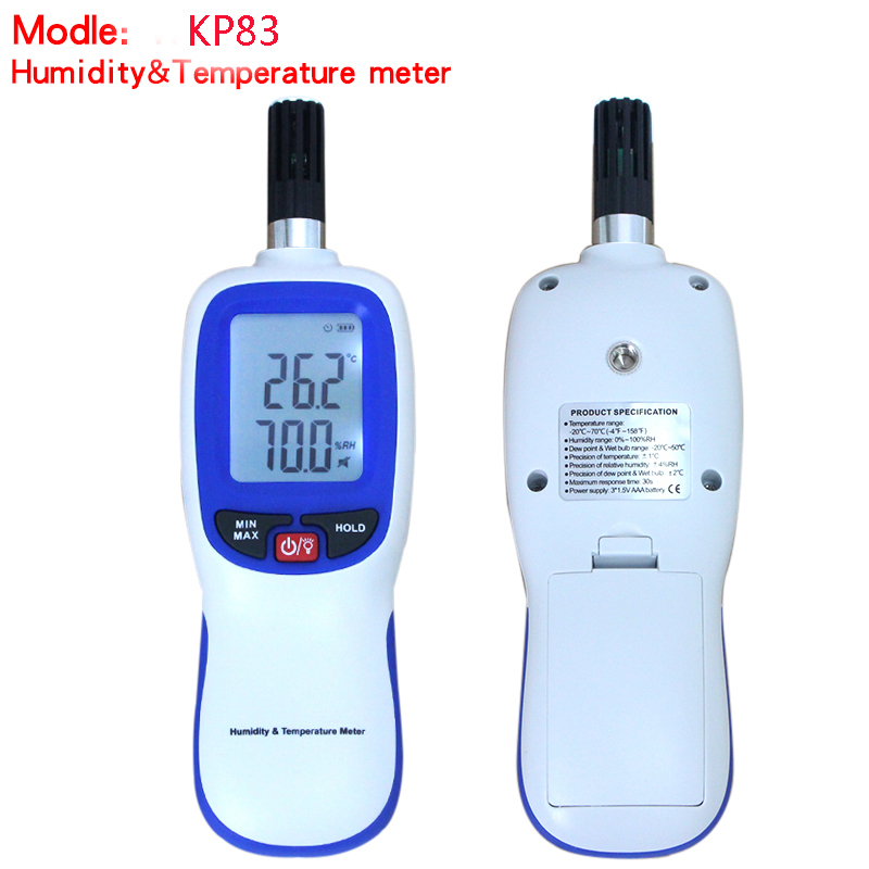 KP83 Temperature Humidity Meter Indoor Outdoor Hygrometer Conversion LCD Backlight