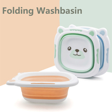 Folding Washbasin Thicken Tourism Wash Water Holder Foldable Footbath Basin Portable Baby Silicone