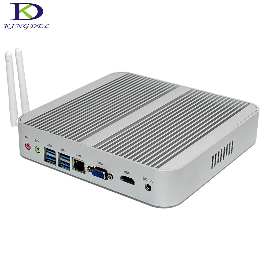 Kingdel Windows10 New 6th Gen Skylake  Mini PC,Fanless Computer,HTPC,Core I3-6100U,Intel HD Graphics520,VGA+HDMI,WiFi,VESA Mount