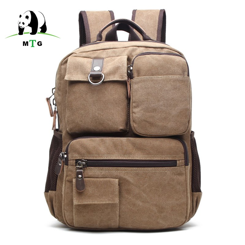Male backpack Casual Men Canvas Backpacks Men Fashion Bags Vintage School Bags Brand Rucksack Men Leisure Shoulder Bag Schoolbag