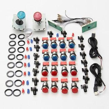 Arcade DIY Kits de Control USB para PC Joystick 2 jugadores iluminado botones 2 x cero retraso teclado codificador