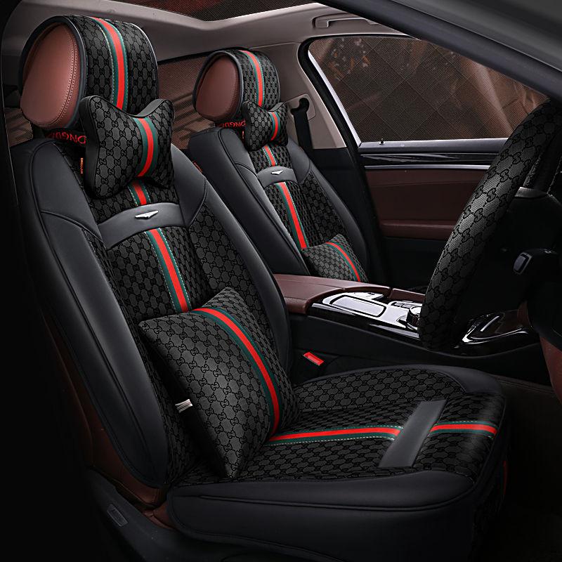 New 6D Car Seat Cover,Universal Seat Cushion,Senior Leather,Car pad,Sport Car Styling,Car-Styling For Sedan SUV стоимость