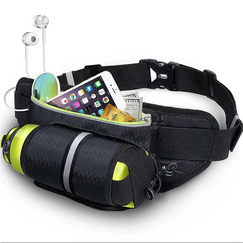YUYU Outdoor Running Waist Bag With Water Holder Waterproof Phone Bag Holder Jogging Belt Bag Women GymBag Fitness Sports Bag