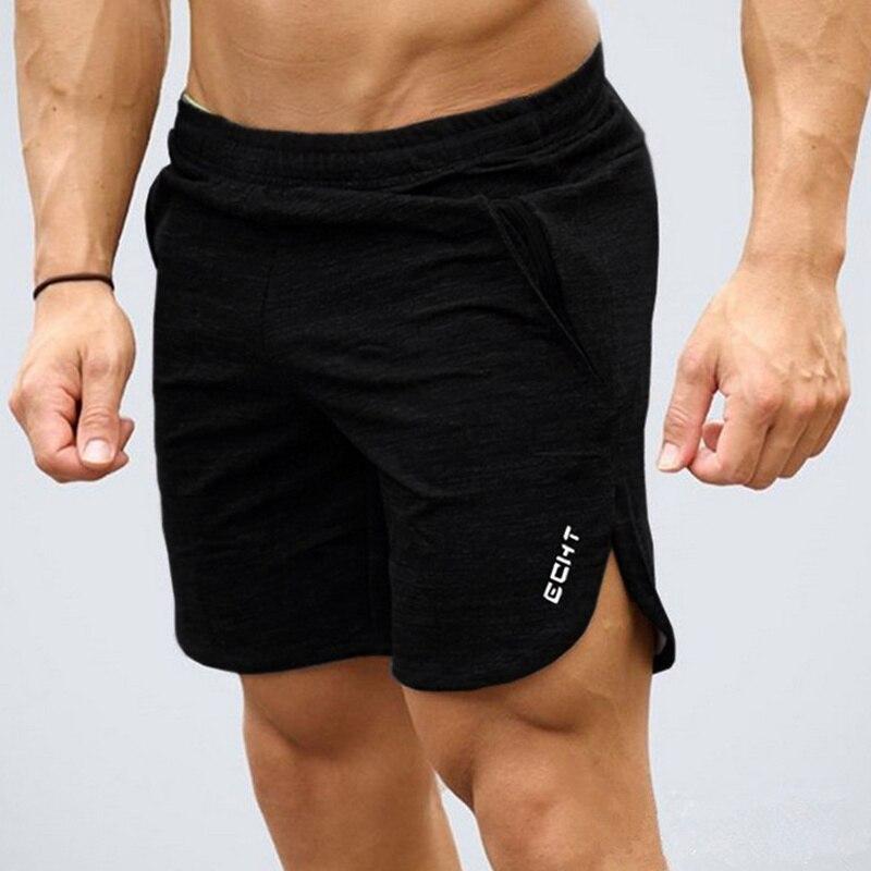Homens verão algodão calções de fitness moda casual ginásios musculação workout joggers masculino calças curtas marca praia solta sweatpants