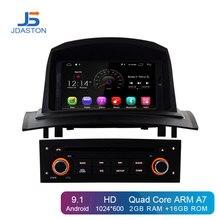 JDASTON Android 9,1 автомобильный мультимедийный плеер для RENAULT Megane Fluence 2002-2008 wifi gps навигация 1 Din автомобильный Радио Стерео DVD SD