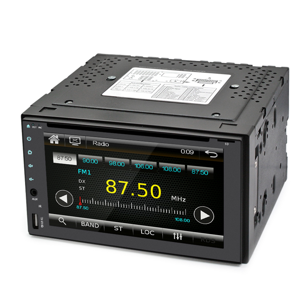 RM - DH2062 - P 6.2 inch Car Multimedia Player for DVD / CD / CDR / CDRW / MP3 / WMA 2 Channel Video Output Built-in Amplifier мебельная заглушка kreg кедр 50 шт p cdr