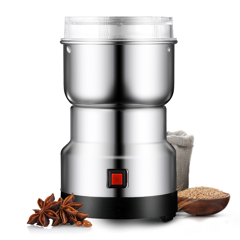 MINI coffee bean grinders Stainless steel Household electric coffee grinding machine Quick Coffee travel mill pulverizer EU plug portable household electric coffee furnace oven mini 500w stainless steel small coffee stove stew pot cooker machine us eu plug