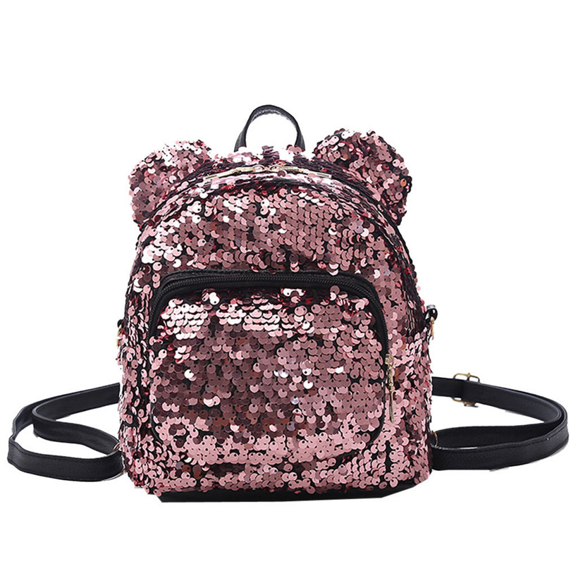 2019 Portable Women Sequins Bling Backpack Girls Mini School Bags For Teenage Girls Backpack Women Small Travel Bag Mochila