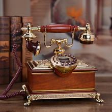 Chord tone of the European classical electric antique craft telephone set natural jade