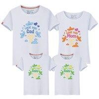 Summer 2017 New Pattern Cartoon Parenting Dress Fashion Short Sleeve Full Cotton Parenting Dress One Home