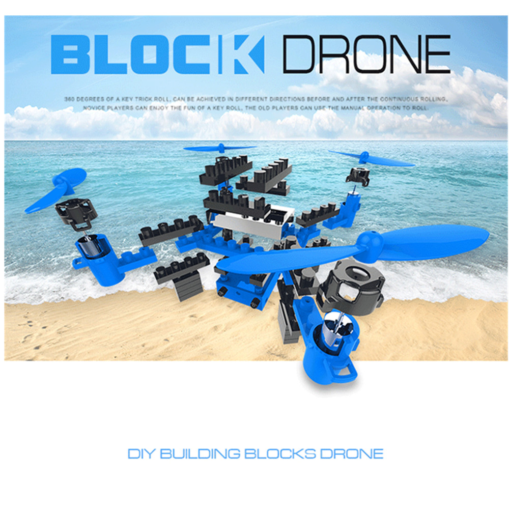 Flytec T11S DIY Assembled Block RC Quadcopter Altitude Hode Wifi FPV Helicopter Mini Pocket Drone For Education VS Heliway 902hs