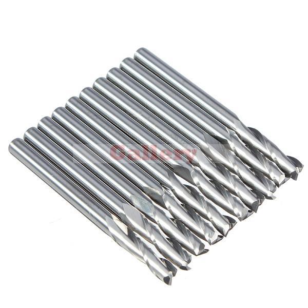 2 Sets Lot 3.175 Mm 12mm Cel Flute Carbide End Mills Router Bit 3 Drill Bit 5pcs 2 0 mm 2mm single flute carbide spiral end mills router bit 10mm cel
