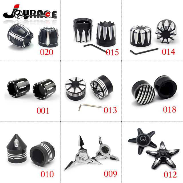 Motorcycle Front Axle Skull Nut Bolt Cover Cap For Harley Softail  V-Rod Sportster XL883 XL1200 XG Touring Trike 2008 - Later
