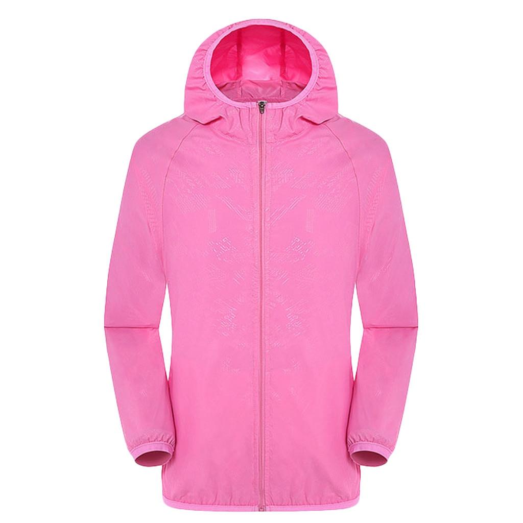 Men's Women Casual Jackets Plus Size Candy Color Windproof Ultra-Light Rainproof Windbreaker Hooded Coat Jackets 4
